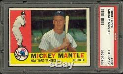 1960 Topps Baseball #350 Mickey Mantle PSA 6
