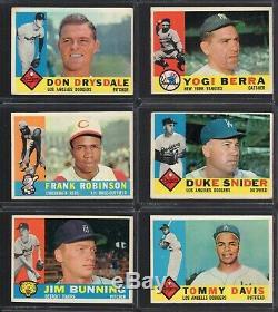 1960 Topps Baseball Complete Set Mid-grade