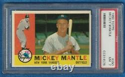 1960 Topps MICKEY MANTLE Yankees #350 NR. MT PSA 7 ICONIC CARD INVESTMENT