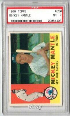 1960 Topps Mickey Mantle #350 PSA 7 Old Label Purchased From PWCC 2019