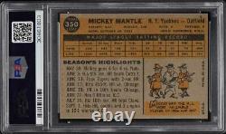 1960 Topps Mickey Mantle #350 PSA 9 MINT