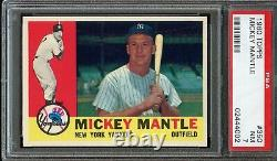 1960 Topps Mickey Mantle #350 PSA NM 7 - CENTERED / HIGH-END