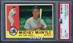 1960 Topps No. 350 Mickey Mantle Psa 8 Near Mint/mint Sharp Corners
