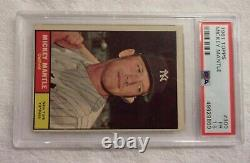 1961 Topps #300 Mickey Mantle (HOF) New York Yankees PSA 1.5 (FR) (Awesome Card)