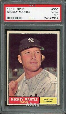 1961 Topps Baseball #300 Mickey Mantle PSA 3.5