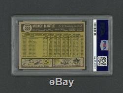 1961 Topps Baseball # 300 Mickey Mantle Psa 8