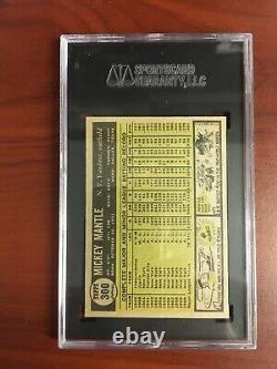 1961 Topps Baseball #300 Mickey Mantle SGC 88 NM/MT 8 Graded CENTERED