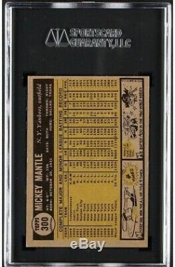 1961 Topps Mickey Mantle #300 SGC 7 HOF
