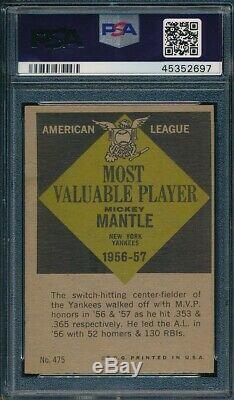 1961 Topps Set Break # 475 Mickey Mantle MVP PSA 5 OBGcards