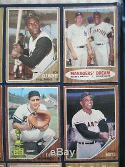 1962 Topps Baseball Complete Set (598) Mantle Clemente Overall Ex/ex+ Nice