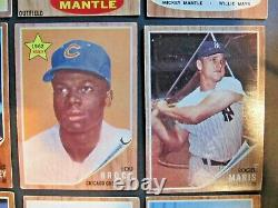 1962 Topps Baseball Complete Set (598) Mantle Clemente Overall Vgex+/ex Nice