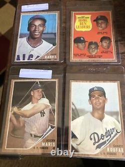 1962 Topps Complete Set with Mantle Mays Aaron Clemente Brock RC PSA Low-Mid Grade