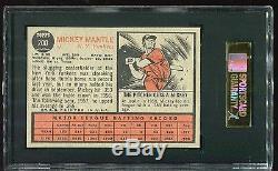 1962 Topps MICKEY MANTLE SGC 92/8.5 Nm/MINT! Centered! Pop=8 vs 66 PSA 8! #200