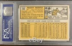 1963 Topps #200 Mickey Mantle Yankees HOF PSA 6 Ex-MT 09030842 (SCA)