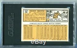 1963 Topps Mickey Mantle #200 SGC 5 EX HOF Yankees (CBF)