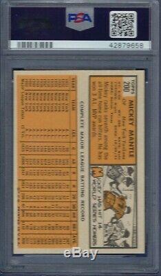 1963 Topps No. 200 Mickey Mantle Psa 8 Near Mint/mint Centered/blazer