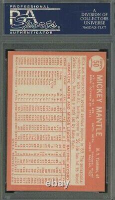 1964 Topps #50 Mickey Mantle New York Yankees HOF PSA 7.5 NM+ Gorgeous Hi End