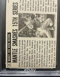 1964 Topps Giants Mickey Mantle Signed Autograph PSA DNA Auto Yankees 84310108