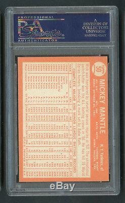 1964 Topps Mickey Mantle #50 HOF PSA 5 Sharp Corners