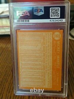 1964 Topps Mickey Mantle #50 PSA 6 EXMT BEAUTIFUL VINTAGE CARD NEW LABEL INVEST