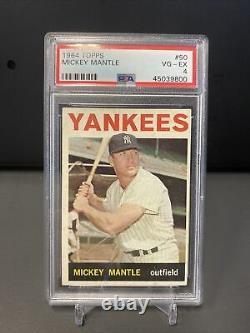 1964 Topps Mickey Mantle #50 VG-EX PSA 4