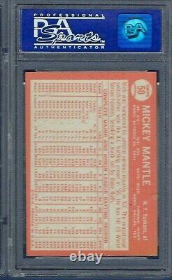 1964 Topps No. 50 Mickey Mantle Psa 7 Near Mint Well Centered