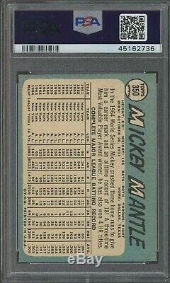 1965 Topps #350 Mickey Mantle New York Yankees HOF PSA 8.5 RAZOR SHARP