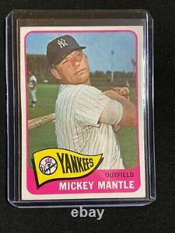 1965 Topps # 350 Mickey Mantle -new York Yankees- Beautiful Card