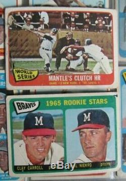 1965 Topps Baseball Near Complete Set 583/598 Mantle Carlton Rc Overall Vg+/vgex