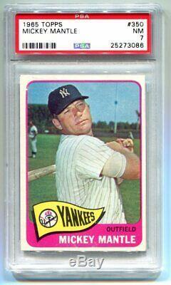 1965 Topps Mickey Mantle #300 PSA 7 NM Yankees HOF 25273086