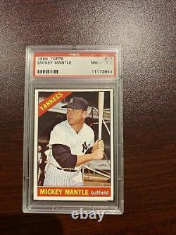1966 Topps #50 Mickey Mantle PSA 8