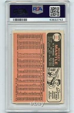 1966 Topps Baseball #50 Mickey Mantle, New York Yankees, Hof Psa 6 (32742)