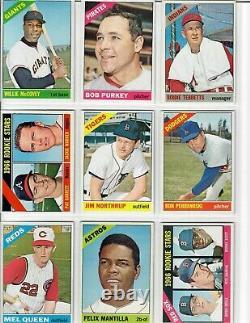 1966 Topps Baseball Complete Set (598/598) High Grade EX/EX+ STRONG SET