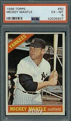 1966 Topps Mickey Mantle #50 PSA 6+ very High end, sharp corners, great color