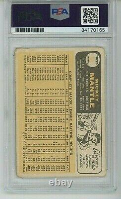 1966 Topps Mickey Mantle PSA/DNA Auto #50 Signed Autograph Slabbed