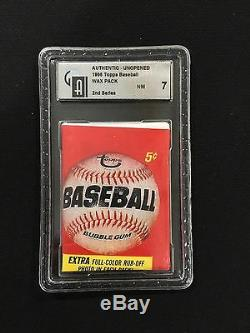 1966 Topps Unopened Sealed Vintage Wax Pack GAI Graded 7 MICKEY MANTLE PSA 10