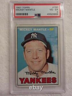 1967 Topps #150 Mickey Mantle (HOF) New York Yankees PSA 4 (VG-EX) (Awesome!)
