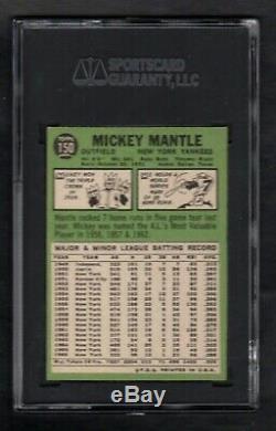 1967 Topps #150 Mickey Mantle New York Yankees Hof Sgc 8.5 Nm/mt+ Centered