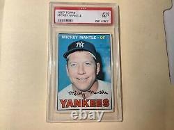 1967 Topps Baseball #150 Mickey Mantle NY Yankees (HOF) PSA 7 NM