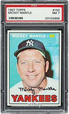1967 Topps Mickey Mantle #150 HOF PSA 7 Centered & High-End
