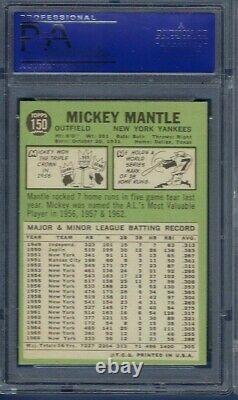 1967 Topps No. 150 Mickey Mantle Psa 8 Near Mint/mint Pack Fresh