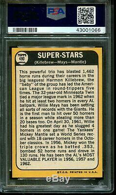 1968 Topps #490 Harmon Killebrew-willie Mays-mickey Mantle Psa 10 B2690126-066