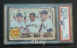 1968 Topps #490 Mickey Mantle & Willie Mays PSA 5 Killebrew THE MICK