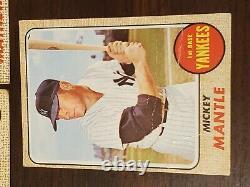 1968 Topps Baseball Starter Set STARS / HOFers 372 Different Mantle Clemente+