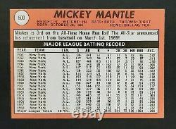 1969 Topps #500 Mickey Mantle Last Year Card New York Yankees