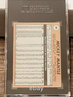 1969 Topps MICKEY MANTLE White Letter Variation, #500, SGC 2.5