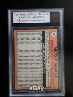 1969 Topps Mickey Mantle New York Yankees #500 Baseball Card Beckett BVG 8