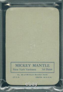 1969 Topps Super 24 Mickey Mantle PSA 8 (4430)