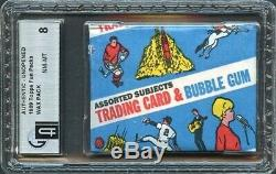 1969 Topps Unopened Baseball Or Man/moon (1-card) Wax Fun-pack (gai-8-nm-mt)rare