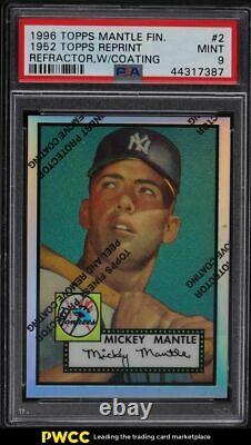 1996 Topps Finest'52 Refractor with Coating Mickey Mantle #2 PSA 9 MINT
